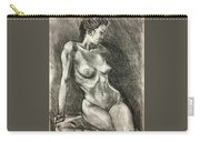 Alison Charcoal On Paper From Observation  Carry-all Pouch