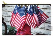 All American Flag And Red Boots - Painterly Carry-all Pouch
