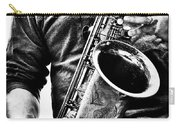 All Blues Man With Jazz On The Side Carry-all Pouch by Bob Orsillo