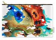 All Seasons Tree 3 - Colorful Landscape Print Carry-all Pouch