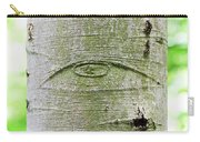 All-seeing Eye Of God On A Tree Bark Carry-all Pouch