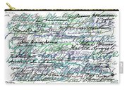 All The Presidents Signatures Teal Blue Carry-all Pouch