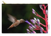 Allen's Hummingbird At Breakfast Carry-all Pouch by Mike Herdering