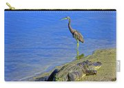 Alligator And Blue Heron Carry-all Pouch