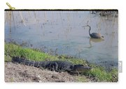 Alligator And Heron Carry-all Pouch