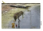 Alligator And Sandhill Crane Carry-all Pouch