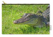 Alligator Up Close  Carry-all Pouch by Allen Sheffield