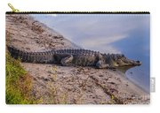 Alligator Warming In The Sun Carry-all Pouch