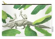 Alligator With Pelicans Carry-all Pouch