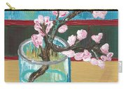 Almond Blossoms In A Glass Carry-all Pouch