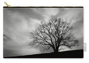 Alone On A Hill In Black And White Carry-all Pouch