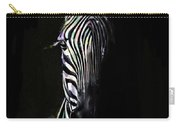Zebra Fade Into Light Carry-all Pouch