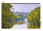 Along The Schuylkill River In Manayunk Carry-all Pouch by Bill Cannon