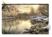Along The Thames River Signed Carry-all Pouch by Garvin Hunter