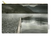 Along The Washington Coast - Dock, Breakwater, And Mountains Carry-all Pouch