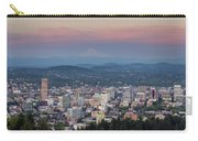Alpenglow Over Portland Oregon Cityscape Carry-all Pouch