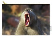 Alpha Baboon Yawning, Kruger Park Carry-all Pouch
