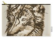Alpha Male - The Wolf - Antiqued Carry-all Pouch