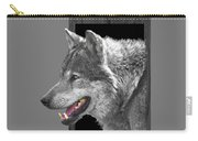 Alpha Male Wolf - You Look Tasty Carry-all Pouch