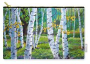 Alpine Flowers And Birches  Carry-all Pouch