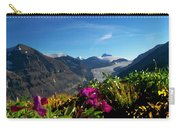 Alpine Meadow Flowers Overlooking Glacier Carry-all Pouch