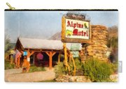 Alpine Motel Vintage Roadside Oasis Yellowstone Carry-all Pouch