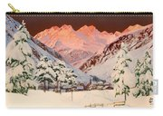 Alpine Mountain Scene Carry-all Pouch