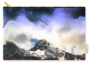 Alpine Mountains And Clouds Watercolour Carry-all Pouch