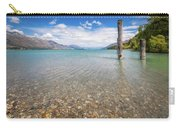 Alpine Scenery From Dart River Bed In Kinloch, New Zealand Carry-all Pouch