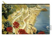 Amalfi Italy Italia Vintage Poster Restored Carry-all Pouch