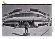 Amalie Arena Black And White Carry-all Pouch