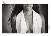 Amani African American Nude Sensual Sexy Fine Art Print In Sepia 4980.01 Carry-all Pouch