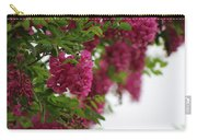 Amaranth Pink Flowering Locust Tree In Spring Rain Carry-all Pouch