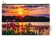 Amaryllis At Sunrise Over Lake Carry-all Pouch