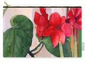 Amaryllis And Begonia Carry-all Pouch