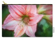 Amaryllis And Tree Frog Painted  Carry-all Pouch