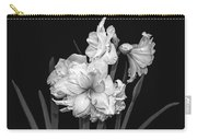 Amaryllis In Black And White Carry-all Pouch