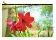 Amaryllis On  The Porch Carry-all Pouch