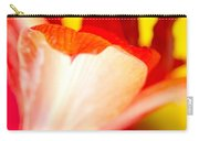 Amaryllis Shadow Abstract Flower With Shadow On Red And Yellow Carry-all Pouch