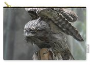 Amazing Frogmouth Bird With His Wings Extended Carry-all Pouch