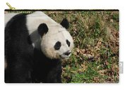 Amazing Giant Panda Bear Sitting In A Grass Field Carry-all Pouch