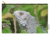 Amazing Gray Iguana Sitting In The Top Of A Bush Carry-all Pouch