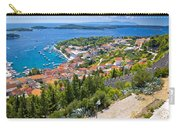 Amazing Historic Town Of Hvar Aerial View Carry-all Pouch