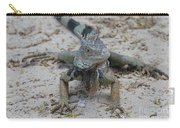 Amazing Iguana With A Striped Tail On A Beach Carry-all Pouch