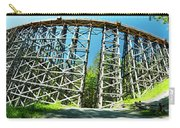 Amazing Kinsol Wooden Trestle Panorama View, Vancouver Island, Bc, Canada. Carry-all Pouch