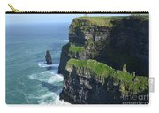 Amazing Look At The Sea Cliff's Of Moher In Ireland Carry-all Pouch
