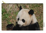 Amazing Panda Bear Holding On To Shoots Of Bamboo Carry-all Pouch