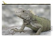 Amazing Posing Gray Iguana Perched On A Log Carry-all Pouch