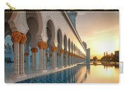 Amazing Sunset View At Mosque, Abu Dhabi, United Arab Emirates Carry-all Pouch