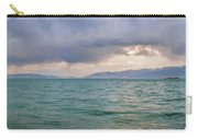 Amazing View Of Azure Sky Over Rippled Surface Of Cold Sea At Sunrise Carry-all Pouch